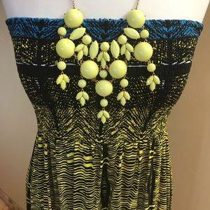 Xhilaration Tube Top African Print Dress Xl